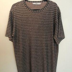 Zara metallic T-shirt dress